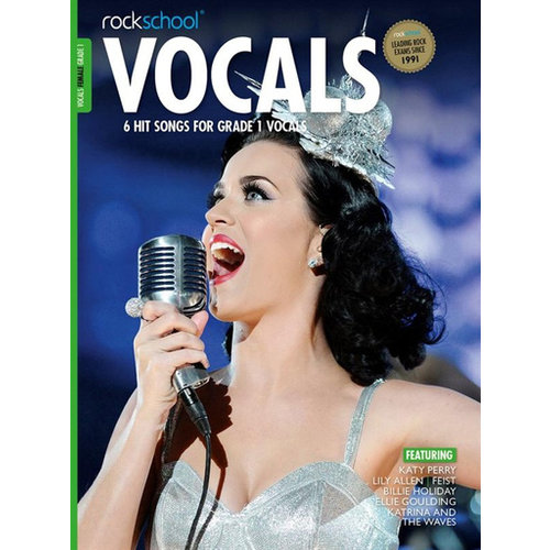 Rockschool Ltd. Rockschool: Vocals Grade 1 - Female (Book/Audio Download) 2014-2017 Syllabus