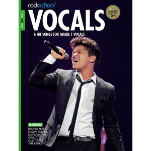 Rockschool: Vocals Grade 1 - Male (Book/Download Card) 2014-2017 Syllabus