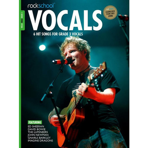 Rockschool Ltd. Rockschool: Vocals Grade 3 - Male (Book/Download Card) 2014-2017 Syllabus