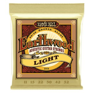 Ernie Ball Earthwood Acoustic Guitar String Set, 80/20 Bronze