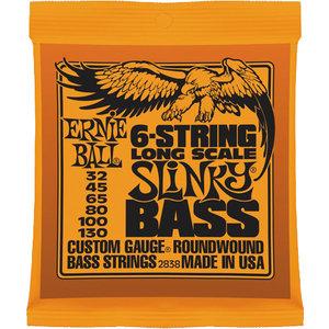 Ernie Ball 6-String Slinky Bass Guitar String Set, .032-.130