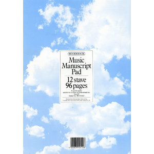 Woodstock Music Manuscript Paper: 12 Stave, 96 pages (A4)