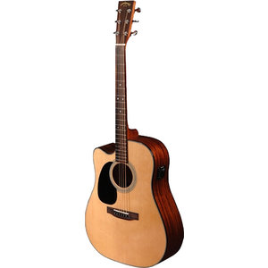 Sigma DMC-1STEL Left Handed Dreadnought, Solid Spruce Top, Mahogany Back w/Fishman Isys +