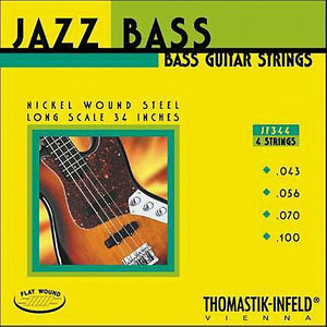 Thomastik Jazz Bass String Set, Flatwound, .043-.100