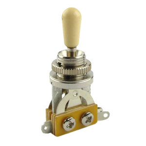 Guitar Man Les Paul Style 3-Way Vertical Toggle Switch with Ivory Tip