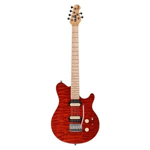 Sterling SUB AX3 Electric Guitar, Translucent Red