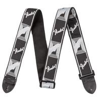"Fender Strap 2"" Monogrammed, Black/Light Grey/Dark Grey"