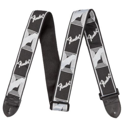 """Fender Accessories Fender Strap 2"""" Monogrammed, Black/Light Grey/Dark Grey"""