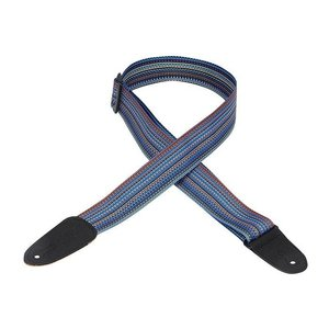 """Levy's 2"""" Soft-Hand Polypropylene Guitar Strap w/ Leather Ends - Multi"""