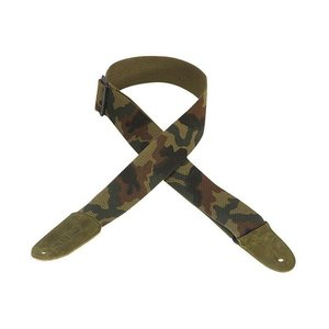 """Levy's 2"""" Cotton Guitar Strap w/Leather Ends - Camouflage"""