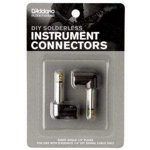 """Planet Waves Cable Station 1/4"""" Plug Right Angled (2-Pack)"""