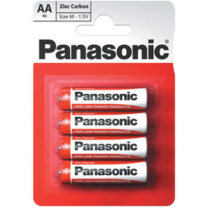 Panasonic AA Zinc Carbon Batteries, 4-Pack