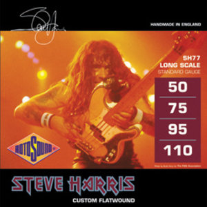 Rotosound Steve Harris Signature Bass Guitar String Set, Flatwound, .050-.110