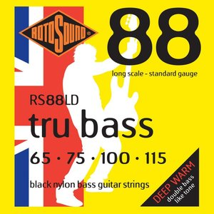 Rotosound Tru Bass Guitar String Set, Nylon Tapewound