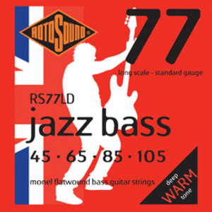Rotosound Jazz Bass Guitar String Set, Monel Flatwound