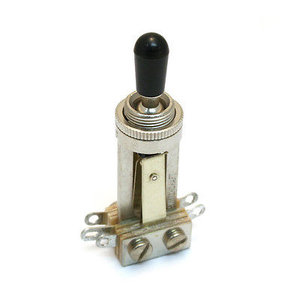 Switchcraft Toggle Switch, Straight, Nickel