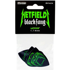 Jim Dunlop James Hetfield Black Fang Ultex Picks, 6-Pack