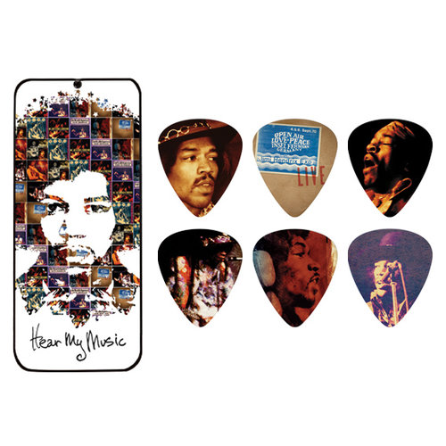 Jim Dunlop Jim Dunlop Jimi Hendrix Hear My Music Pick Tin