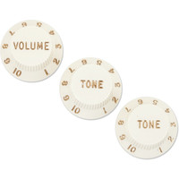 Fender Stratocaster Volume/Tone Knobs, Set of 3, Parchment