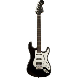 Squier Standard Stratocaster HSS, Black and Chrome