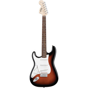 Squier Left Handed Affinity Stratocaster, Brown Sunburst