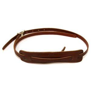 Gretsch Vintage Leather Guitar Strap, Walnut
