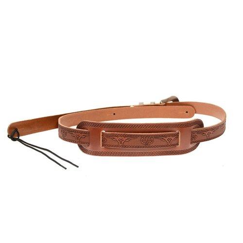 Gretsch Gretsch Tooled Vintage Leather Guitar Strap, Walnut