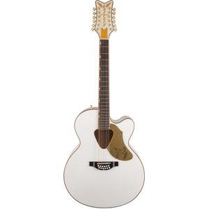 Gretsch G5022CWFE-12 Rancher Jumbo 12-String Electro-Acoustic White Falcon, Cutaway