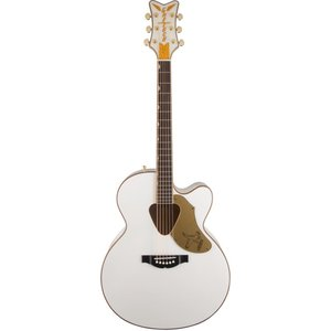 Gretsch G5022CWFE Rancher Jumbo Falcon, Cutaway Electro-Acoustic, White