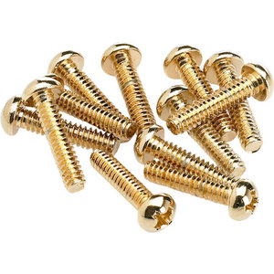 Fender Pickup / Switch Mounting Screws, Gold (12)