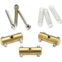 Fender Saddle Assembly for Vintage Tele, Brass Set of 3