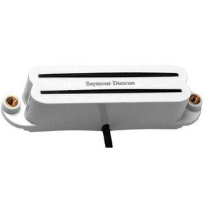 Seymour Duncan SHR-1B Hot Rails for Stratocaster Hum Cancelling Humbucker Pickup, Bridge, White