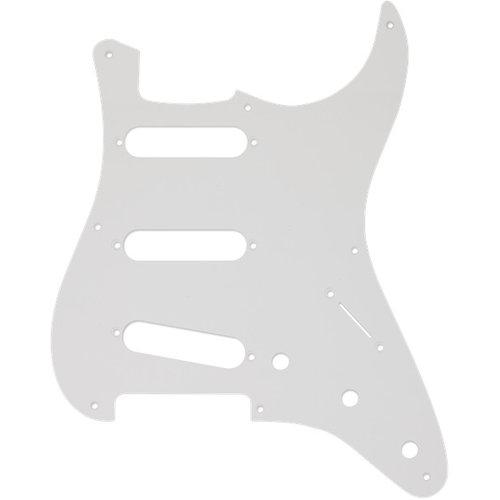 Fender Accessories Fender Pickguard, '50s Strat, 8 Hole S/S/S Configuration, 1-Ply, White