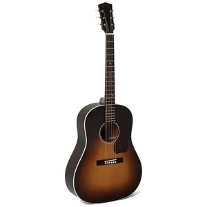 Sigma JM-SG45+ Dreadnought, Solid Spruce Top, Mahogany Back Sunburst