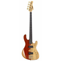 Cort Jeff Berlin Rithimic Signature Electric Bass, Spalted Maple and Padouk Top