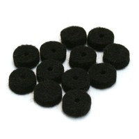 Fender Felt Washers, Black, 12 Pack