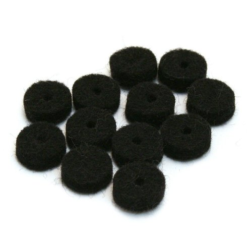 Fender Accessories Fender Felt Washers, Black, 12 Pack