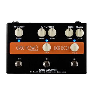 Carl Martin Carl Martin Greg Howe Lick Box, Overdrive/Distortion Pedal