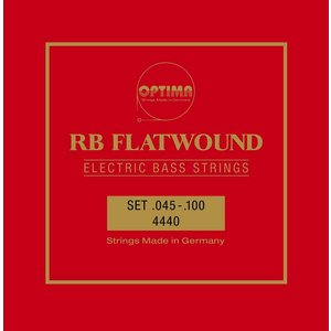 Optima RB Flatwound Bass String Set, .045-.100