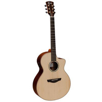 Faith Hi-Gloss Neptune Electro-Acoustic Mini Jumbo, All Solid, Engelmann Spruce Top, Rosewood Back