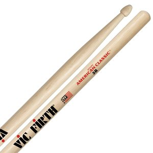 Vic Firth American Classic Hickory Drumstick, Wood Tip, 5B