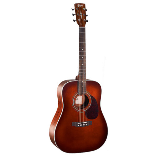 Cort Cort Earth 70 Dreadnought, Solid Sitka Spruce Top, Mahogany Back, Brown