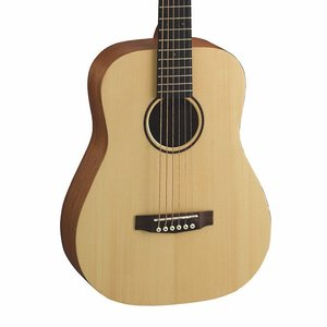 Cort Earth Mini Travel Guitar, Solid Spruce Top, Mahogany Back, Open Pore w/Bag