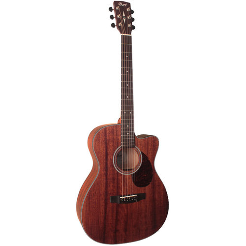 Cort Cort AS-OC4 Electro-Acoustic OM Guitar, All Solid Mahogany