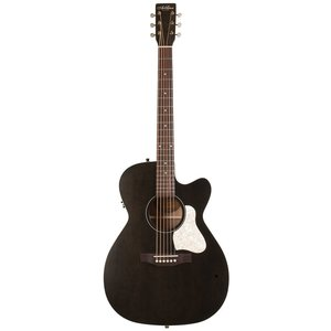 Art & Lutherie Legacy Concert Hall Electro-Acoustic, Solid Spruce Top, Wild Cherry Back, Cutaway, Faded Black w/ Q1T Pickup
