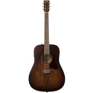 Art & Lutherie Americana Dreadnought Electro-Acoustic, Solid Spruce Top, Wild Cherry Back, Bourbon Burst w/ Q1T Pickup