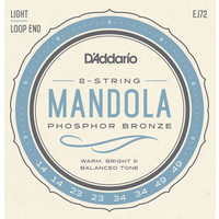D'Addario Mandola String Set, Phosphor Bronze, EJ72 Light .014-.049