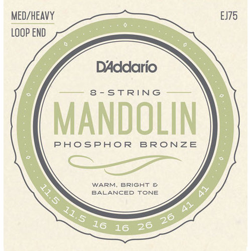 D'Addario D'Addario Mandolin String Set, Phsophor Bronze