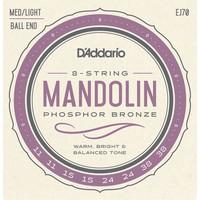 D'Addario Mandolin String Set, Phosphor Bronze, EJ70 Ball End .011-.038