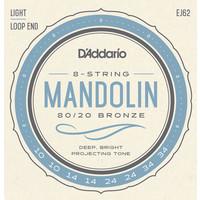 D'Addario Mandolin String Set, 80/20 Bronze, EJ62 Light .010-.034